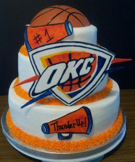 Wedding Cakes Okc by Thunder Basketball Cake Cake Ideas And Designs