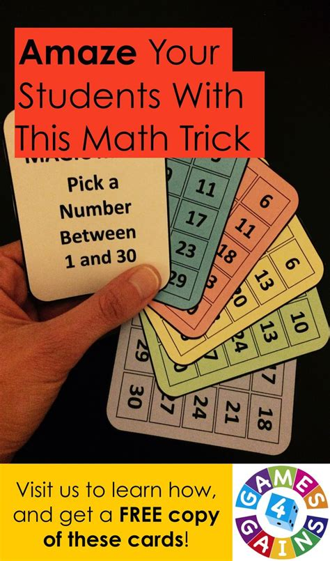 printable magic number cards 809 best images about math tricks on pinterest free math