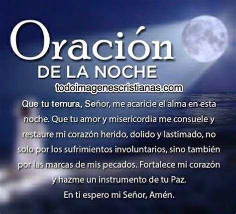 oracion de las buenas noches oraciones on pinterest dios prayer and prayer for