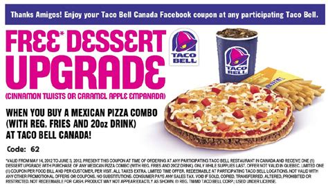 free online printable grocery coupons canada taco bell details