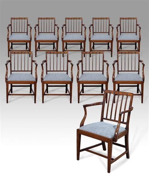 set of 10 antique dining chairs georgian carver chairs