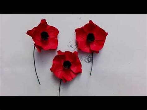 Origami Poppy - origami tutorial poppy flower
