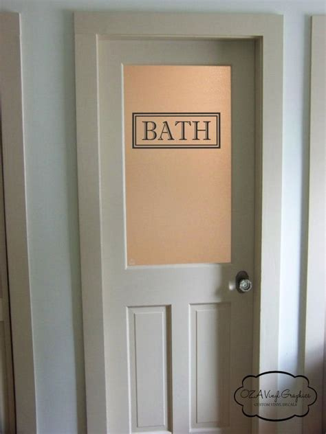 bath vinyl decal rectangle border bath glass door sticker