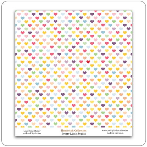 Pattern Paper - pretty studio hopscotch collection reveal pattern