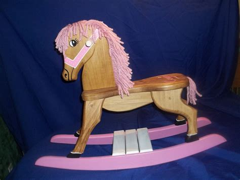 Handmade Wooden Rocking Horses - pink handmade wooden rocking by rmdcreations