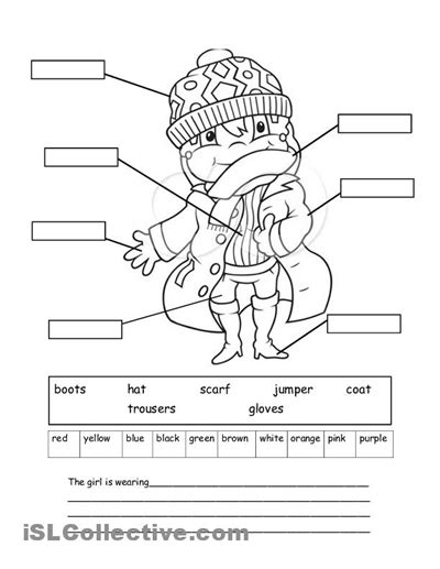 10 best images of clothing worksheets