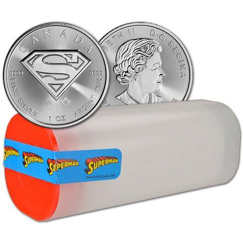 Kaos Black Silver Superman 1 2016 canada silver superman 1 oz 5 bu 1 roll 25 coins in 1 ebay