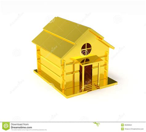 home design gold free golden house miniature gold toy stock illustration
