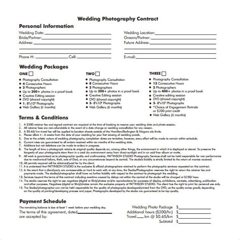 wedding contract template 14 download free documents in