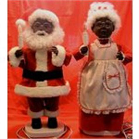 black santa mrs claus animated motionette doll set 25