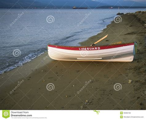 lifeguard boat clipart solitary lifeguard boat on beach stock photography image