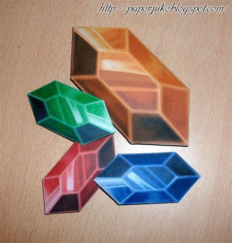 Origami Legend - papercraft rupee by thebutcher59 on deviantart