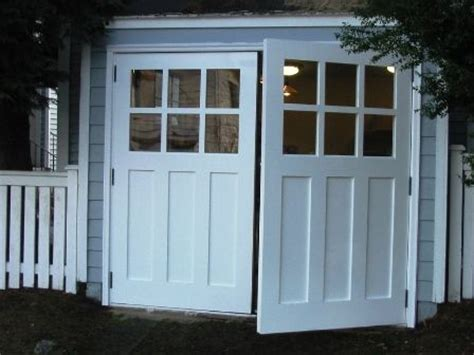 swing out doors swing open garage doors swinging swing out or