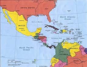 mapa america central y antillas mapa de las bahamas el caribe