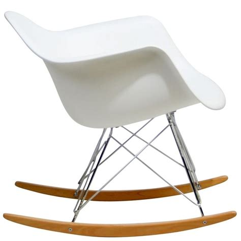 Armchair Rocking Chair by Lexmod Molded Plastic Armchair Rocker In