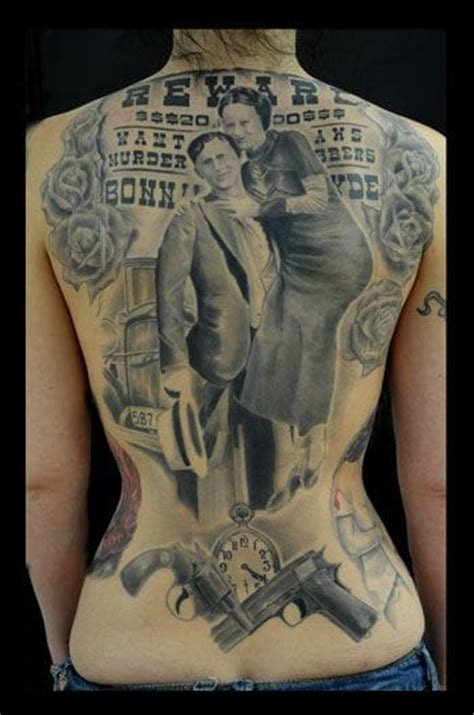 bonnie and clyde tattoo 15 bonnie and clyde tattoos for badass couples tattoodo