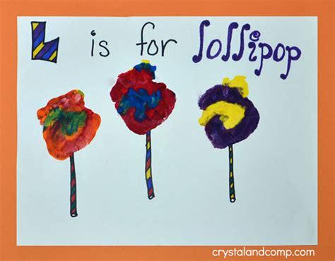 lollipop craft print letter l