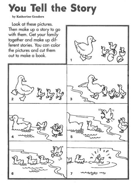 and tell the of narration books duck book free printable pdf worksheets