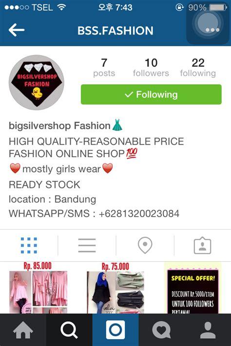 bio instagram untuk online shop beautiful with beautyshidae beautyshidae x bss fashion