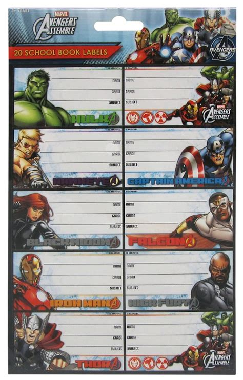 Label Book Avenger buy book labels at mighty ape nz