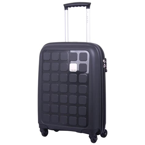suitcase cabin tripp black ii 5 cabin 4 wheel suitcase