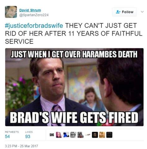 Internet Wife Meme - fired cracker barrel manager brad s wife becomes