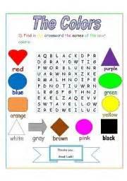 color crossword clue worksheet the colors crossword