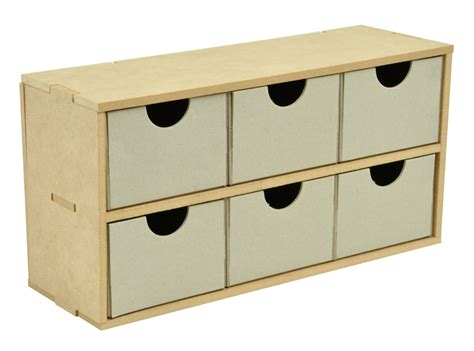 Kaisercraft Drawers by Kaisercraft Beyond The Page Collection 6 Drawer Wide Unit
