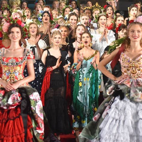 dolce and gabbano dolce gabbana alta moda fashion show in naples vogue