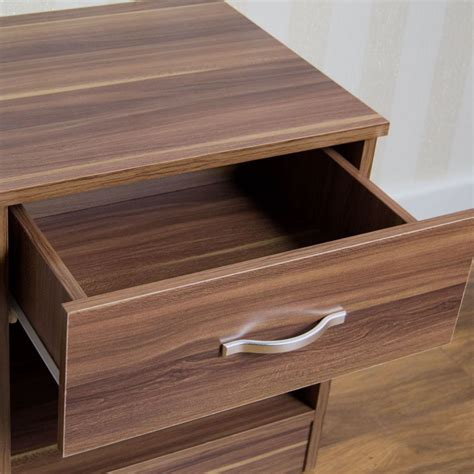 Bedroom Furniture Runners Riano Bedside Cabinet 1 Drawer Metal Handles Runners Bedroom Furniture Ebay