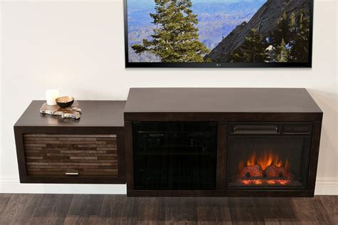Fireplace That Hangs On Wall by Hanging Wall Mount Fireplace Tv Stand Eco Geo Espresso