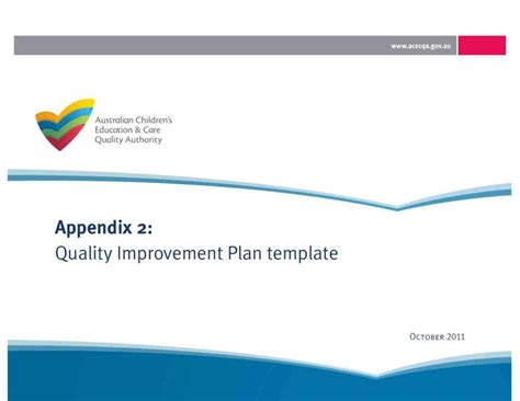 template for quality improvement plan one tree hill primary school south australia