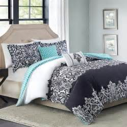 teal white and black bedroom teal and black bedding