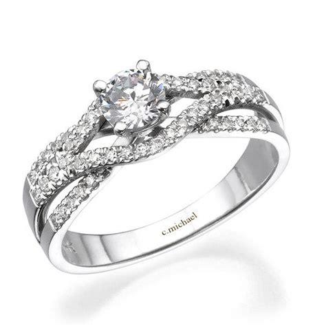 14k white gold infinity ring white gold engagement ring 14k white gold ring