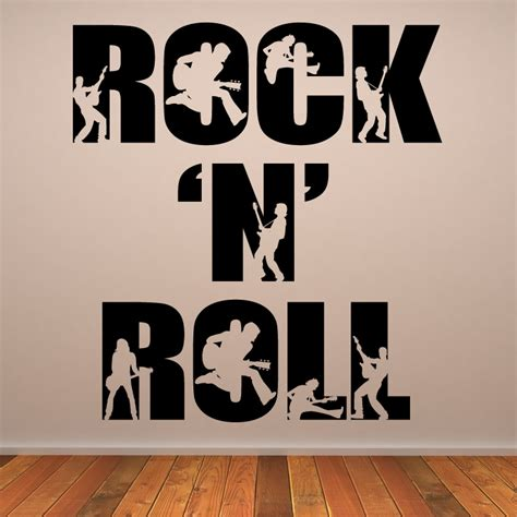 wall transfers stickers rock n roll wall decals wall stickers transfers ebay