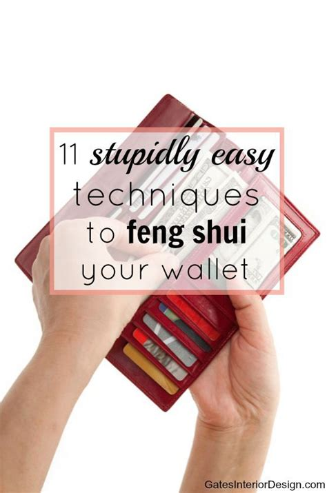 stupidly easy techniques  feng shui  wallet