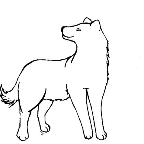 Outlines Of Wolves by Wolf Outline Az Coloring Pages
