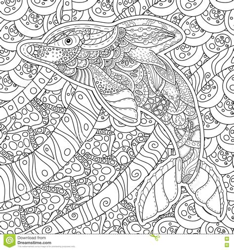 anti stress coloring book price zentangle stylized dolphin anti stress coloring