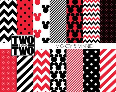 mickey mouse digital mickey mouse digital paper quot mickey and minnie quot mickey