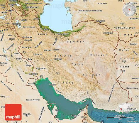 satellite map of iran satellite map of iran