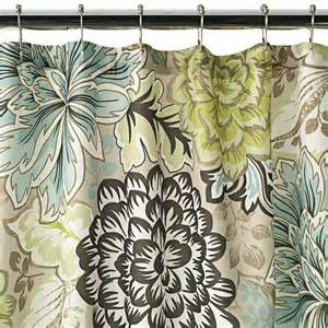 reiko floral brown green blue shower curtain new home