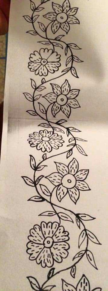 cenefas para bordar las 25 mejores ideas sobre dibujos de flores en