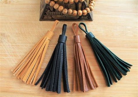 leather home decor home accessory leather leather tassel brown leather