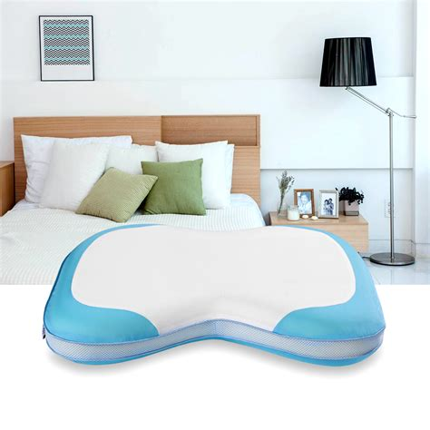 foam bed pillows memory foam curved bed pillow removable zippered cover