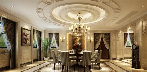 european style restaurant circular ceiling decoration