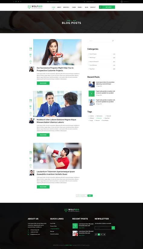 themeforest digital marketing wolfseo digital marketing agency psd template by xstheme