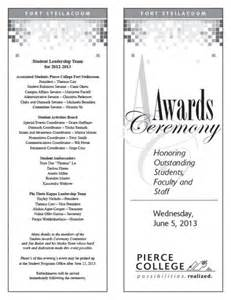 Awards Ceremony Program Template by Senior Banquet Program Just B Cause