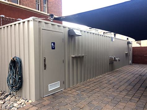 shipping container restrooms containerauction