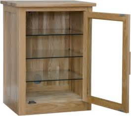 Hi Fi Cabinets With Glass Doors Arden Solid Oak Furniture Hi Fi Stereo Storage Cabinet Modern Living Room Ebay