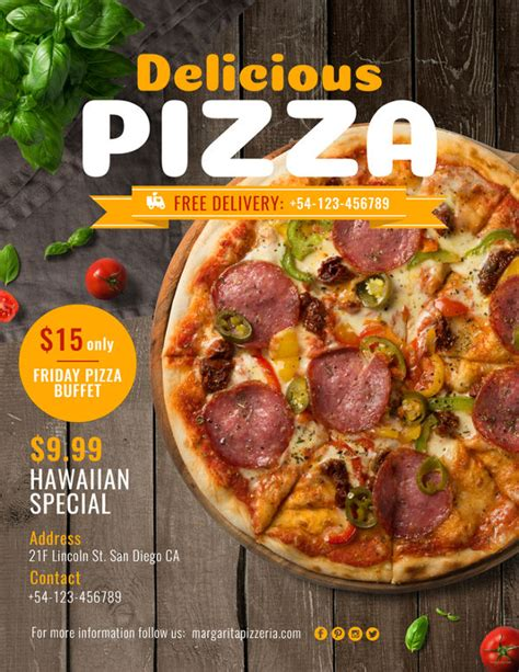 Pizza Flyers 35 Free Psd Ai Vector Eps Format Download Free Premium Templates Pizza Flyer Template